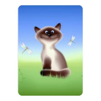 """Sly Cat 5"""" X 7"""" Invitation Card"""