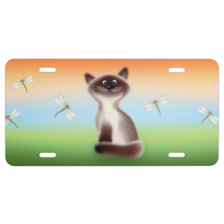 Sly Cat License Plate