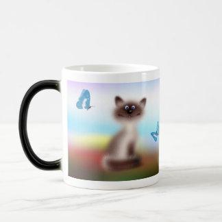 Sly Cat 11 Oz Magic Heat Color-Changing Coffee Mug