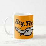 Sly fox graphic mug orange