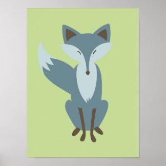 Sly Fox Nursery Art Poster