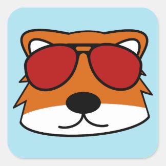 Sly Fox Square Sticker