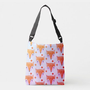 frankiesdaughter Sly Fox Watercolor Crossbody Bag