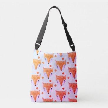 Beach Themed Sly Fox Watercolor Crossbody Bag