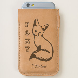 Sly Foxy Fox Personalized iPhone 6/6S Case