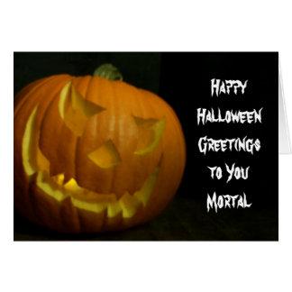 Sly Halloween Pumpkin Card