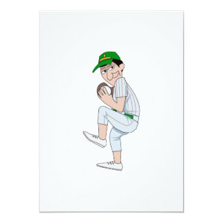 "Sly Pitcher 5"" X 7"" Invitation Card"