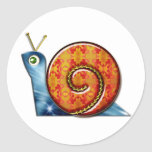 Sly Snail Classic Round Sticker
