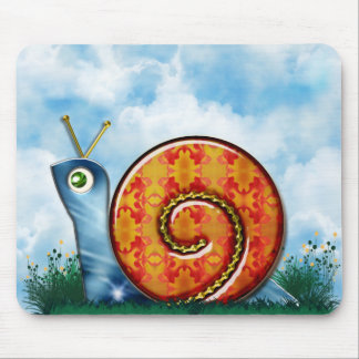 Sly Snail in Garden Grass Mouse Pad