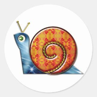 Sly Snail Classic Round Sticker