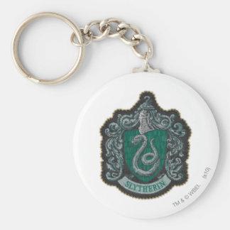 Slytherin Crest Basic Round Button Keychain