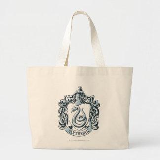 Slytherin Crest Blue Large Tote Bag