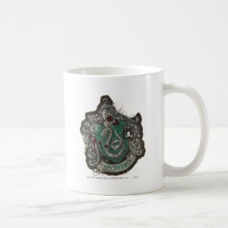Slytherin Crest - Destroyed Classic White Coffee Mug