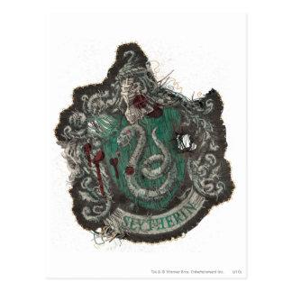 Slytherin Crest - Destroyed Postcard
