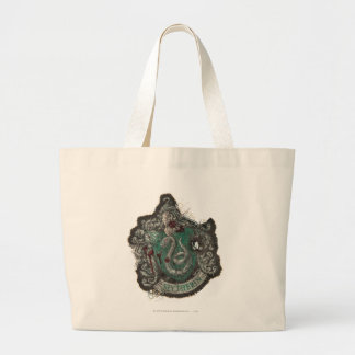Slytherin Crest - Destroyed Tote Bags