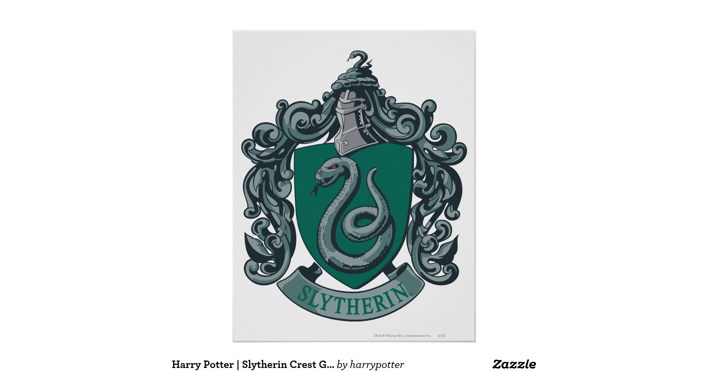 slytherin_crest_green_poster ...