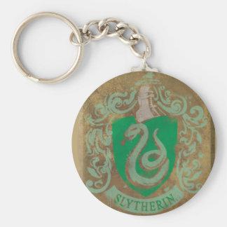 Slytherin Crest HPE6 Basic Round Button Keychain