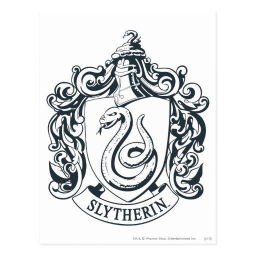 Slytherin Crest Postcard Zazzle