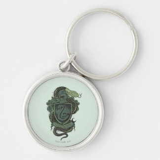 SLYTHERIN™ Crest Silver-Colored Round Keychain