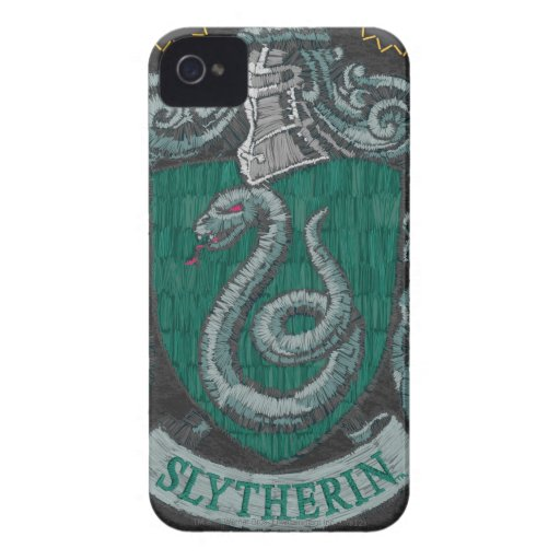 Slytherin Destroyed Crest iPhone 4 Cases