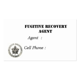 sm.badge,  Fugitive Recovery Agent, Agent  : Ce... Double-Sided Standard Business Cards (Pack Of 100)