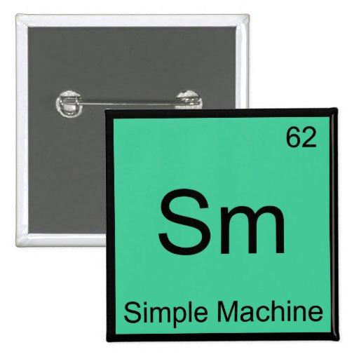 SM - Camiseta del símbolo del elemento de la quími Pin