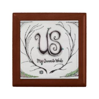 "Sm Jewelry Box ""Us, My Favorite Word"" Original Art"