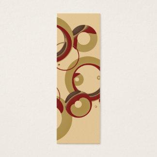 Sm. Modern Bubbles Bookmark - Beige Mini Business Card