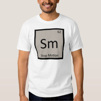 SM - Pare el símbolo de la química de la animación Poleras