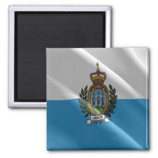 SM - San Marino - Flag waving Magnet