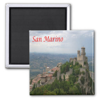 SM - San Marino - Monte Titano - Panorama Magnet