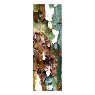 SM. Señales de la textura de la corteza de árbol Plantilla De Tarjeta De Negocio