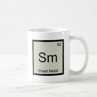 Sm - Sheet Metal Funny Chemistry Element Symbol T Coffee Mug