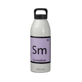 SM - Tabla periódica de la química del arte del su Botellas De Agua Reutilizables