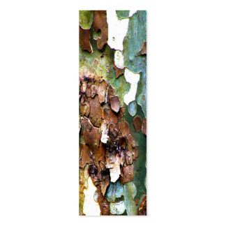 Sm. Tree Bark Texture Bookmarks Double-Sided Mini Business Cards (Pack Of 20)