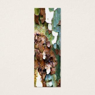 Sm. Tree Bark Texture Bookmarks Mini Business Card
