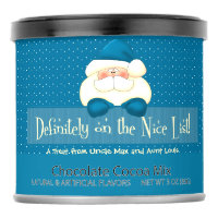 SM Turquoise Blue Polka Dots and Santa Nice List Hot Chocolate Drink Mix