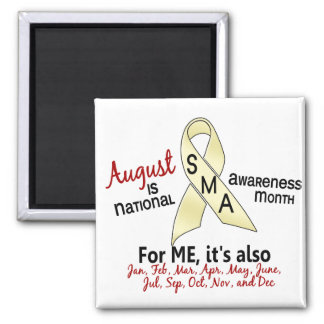 SMA Awareness Month August 2.1 2 Inch Square Magnet