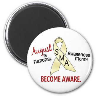 SMA Awareness Month August 2.3 2 Inch Round Magnet