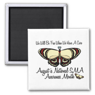 SMA Awareness Month August 3.1 2 Inch Square Magnet