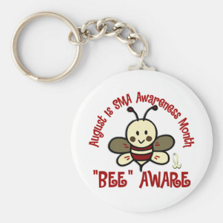 SMA Awareness Month August 4.3 Basic Round Button Keychain