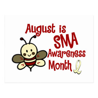 SMA Awareness Month August Postcard