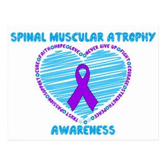 SMA Awareness RIbbon & Heart Postcard