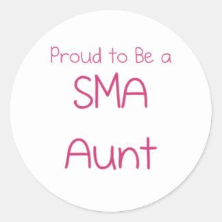 SMA Family - Aunt Classic Round Sticker