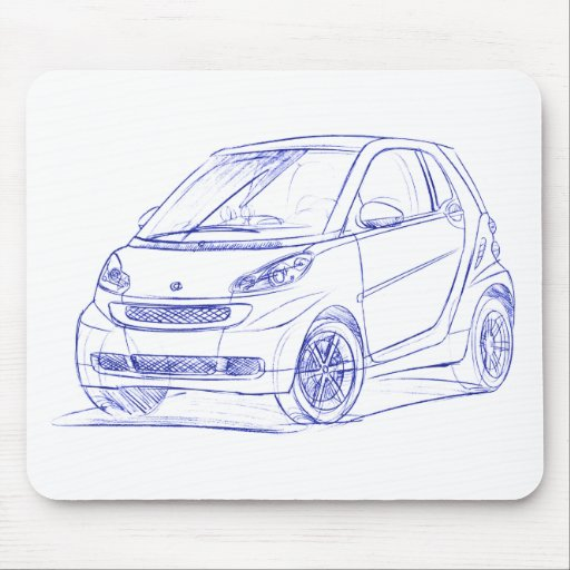 Sma ForTwo 2007 Mouse Pad