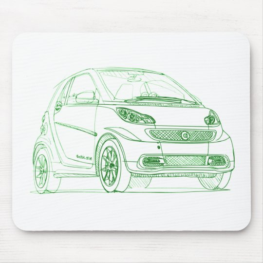 Sma ForTwo Electric 2013 Mouse Pad