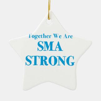 SMA fuerte - azul claro Adorno De Cerámica En Forma De Estrella