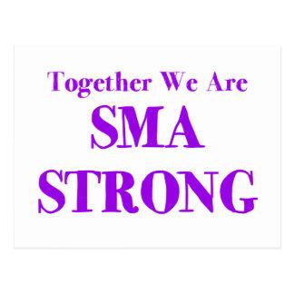 SMA fuerte - púrpura Postal