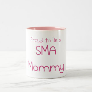 SMA Mom or Mommy Two-Tone Coffee Mug