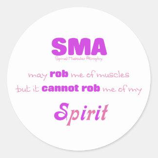 SMA no puede Rob mi alcohol - rosa y púrpura Pegatina Redonda
